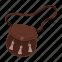country, landmark, leather bag, national, scotland, travel icon