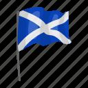 country, flag, landmark, national, scotland, state, travel