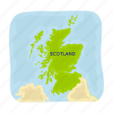 country, landmark, map, national, scotland, territory, travel icon