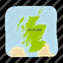 country, landmark, map, national, scotland, territory, travel
