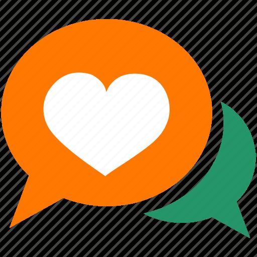 conversation, couple, female, heart, love, male, relationship icon