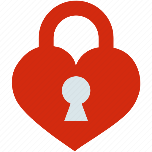 couple, female, heart, lock, love, male, relationship icon