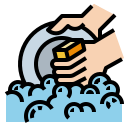 cleaning, dishes, hand, virus, wash icon