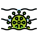 grows, pandemic, spread, virus, water icon