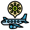 airplane, pandemic, spread, transportation, virus
