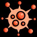 bacteria, bug, color, covid, disease, lineal, virus icon