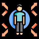 color, covid, escort, guard, immunity, lineal, prevent icon