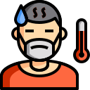 color, covid, feverish, lineal, mask, sick, thermometer icon