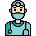 color, covid, doctor, healthcare, lineal, medical, stethoscope icon