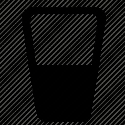 drink, glass, milk icon