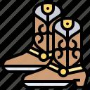 boots, cowboy, footwear, leather, western
