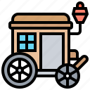 carriage, chariot, transportation, vintage, wagon