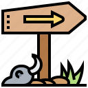 arrow, destination, direction, guidepost, travel icon