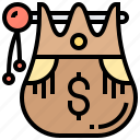 bag, cash, money, treasure, wealth