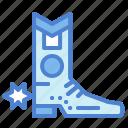 boot, cowboy, footwear, western icon