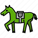 adventure, cowboy, desert, horse, oasis, scarf, vehicle icon