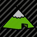 adventure, cowboy, desert, hood, oasis, tent, tilt icon