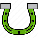 adventure, cowboy, desert, horse, horseshoe, knight, oasis icon