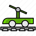 adventure, cart, cowboy, desert, oasis, railroad icon