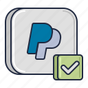 accept, method, payment, paypal icon