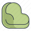 bag, bean, beanbag, furniture icon