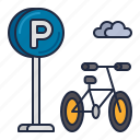 bicycle, bicycle parking, bike, bike parking, parking icon