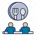 community, kitchen, kitchenette, lunch icon