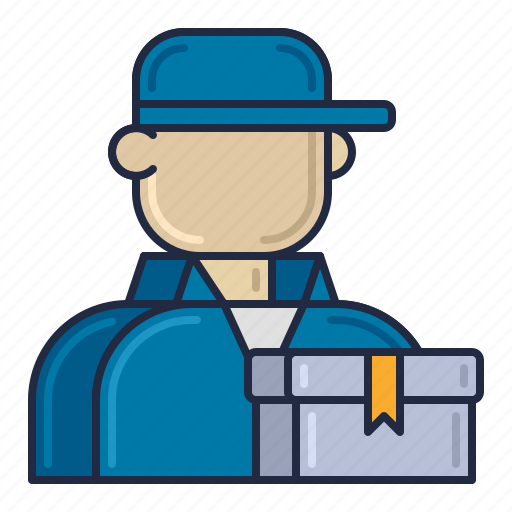 courier, delivery, package, service icon