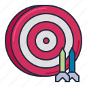 board, darts, game, pub, target icon