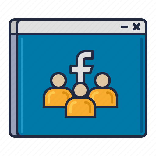 facebook, group, media, social icon