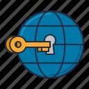 access, coworking, global, key, world