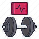cardio, dumbbell, gym, weights icon