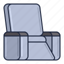 body, chair, massage, relax, treatment icon