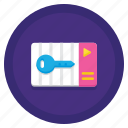 access, card, coworking, key icon