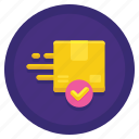 courier, coworking, delivery, service icon