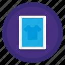 coworking, printer, screen, shirt icon