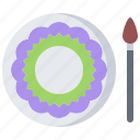 plate, handmade, craft, artisan, dish, painting, brush