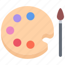 artisan, brush, craft, handmade, paint, palette, workshop icon