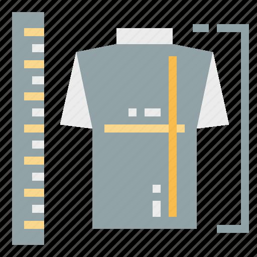 design, measure, ruler, shirt icon