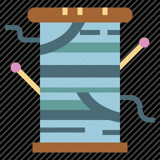 knit, textile, thread, tool icon