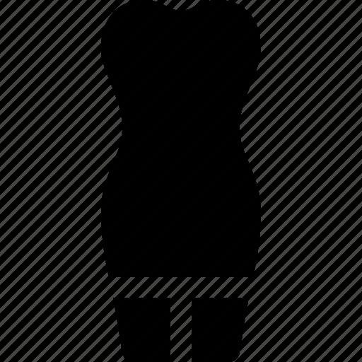 body, clothing, dress, female, shape, short, woman icon