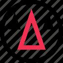 arrow, cones, design icon