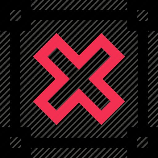 cross, edit, points, stop icon