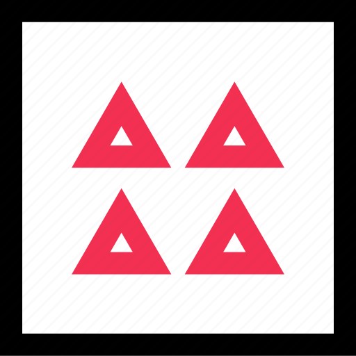 abstract, four, triangles icon