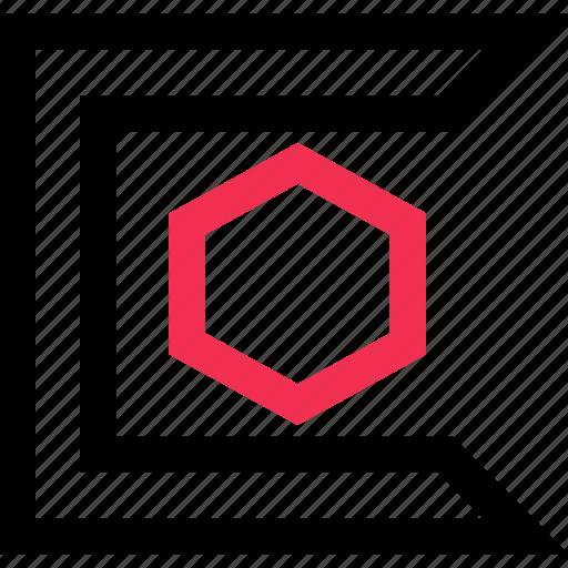 creative, design, hexagon icon