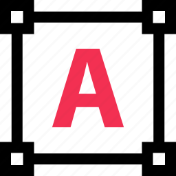abstract, edges, edit, letter icon
