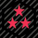 design, favorite, star, three icon