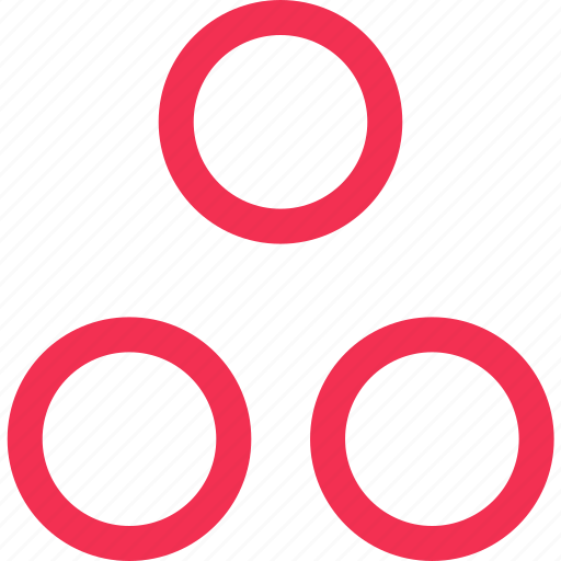 abstract, dots, three icon
