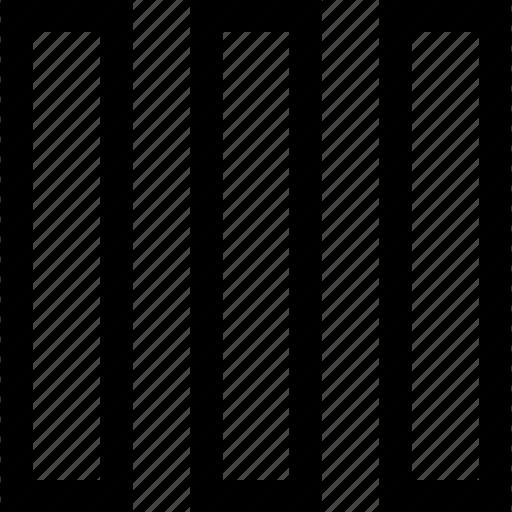 lines, three, vertical icon