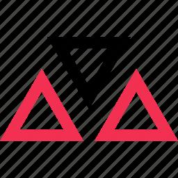 design, three, triangles icon